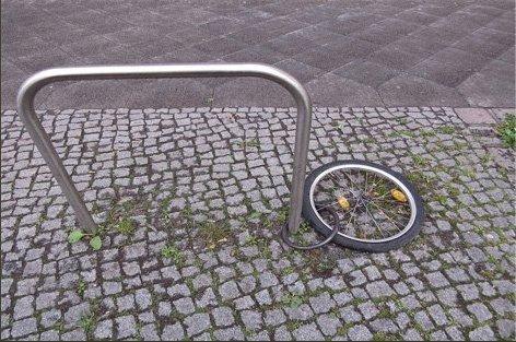 Mein Fahrrad sieht ziemlich mitgenommen aus