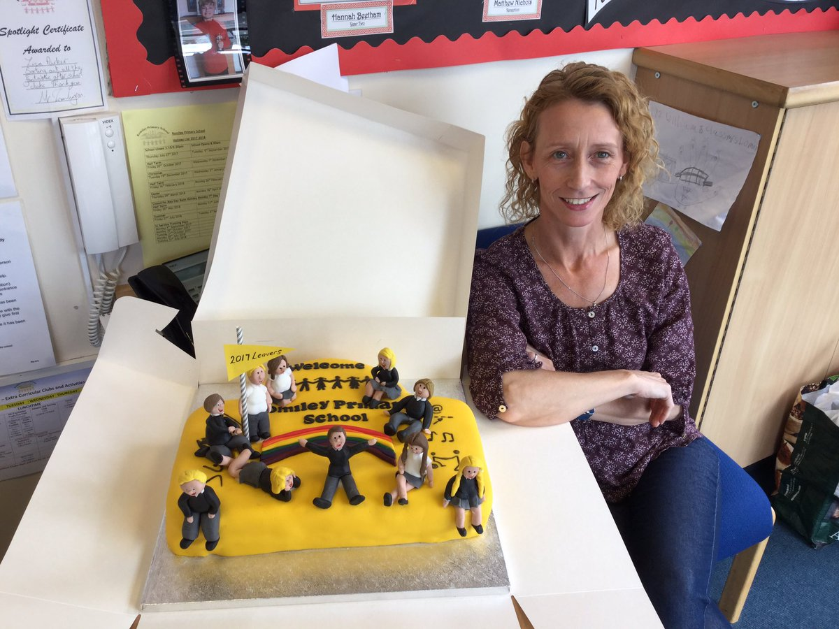 What a fantastic Leavers Cake for our Year 6 children. @RomileyPS Made and donated by the the hugely talented Mrs Unwin - you are amazing!