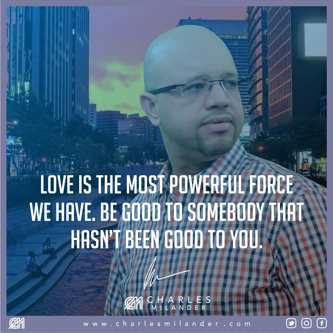 Love is the most powerful force we have. Be good to somebody that hasn't been good to you. #bible #Jesus #Jesuschrist #passion #motivation<br>http://pic.twitter.com/tN5AE8Xs9t