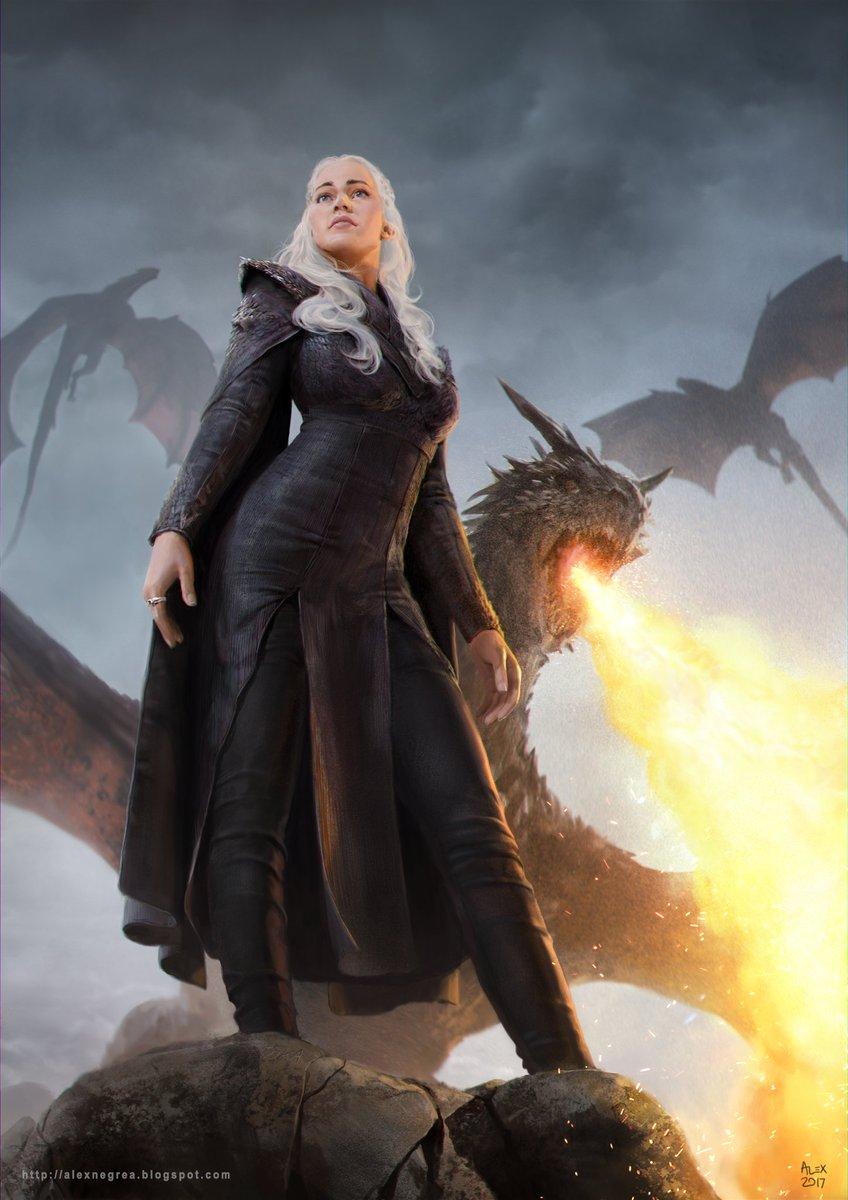 Mother of dragons fanart i did #GameOfThrones  #Khaleesi #dragons<br>http://pic.twitter.com/NBs3aHTecU
