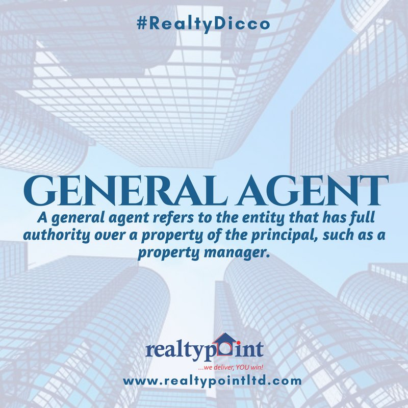 Who is a General #Agent? Know your #realestate here.  #realestateagent #property #housing #realtypointltd<br>http://pic.twitter.com/qizeUTHsNC
