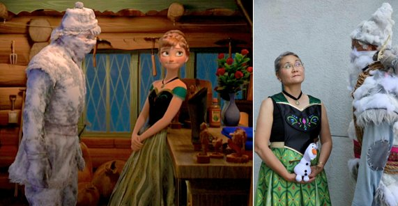 Recreated a favorite scene from #frozen  #princessanna #frozenkristoff #frozencosplay  Thank you to  Alan K. for the photo taken #D23Expo <br>http://pic.twitter.com/MWi4nKcnqn