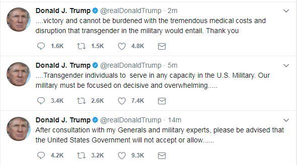 Thousands of trans service-members on the front lines deserve better from their commander-in-chief, @realDonaldTrump. Contact the ACLU.