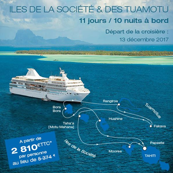 #Travel #Tahiti #Cruise #promotion Contact us : Info@capvoyagesevasion.com / 04 89 99 35 70 <br>http://pic.twitter.com/kfFXGnqZBi