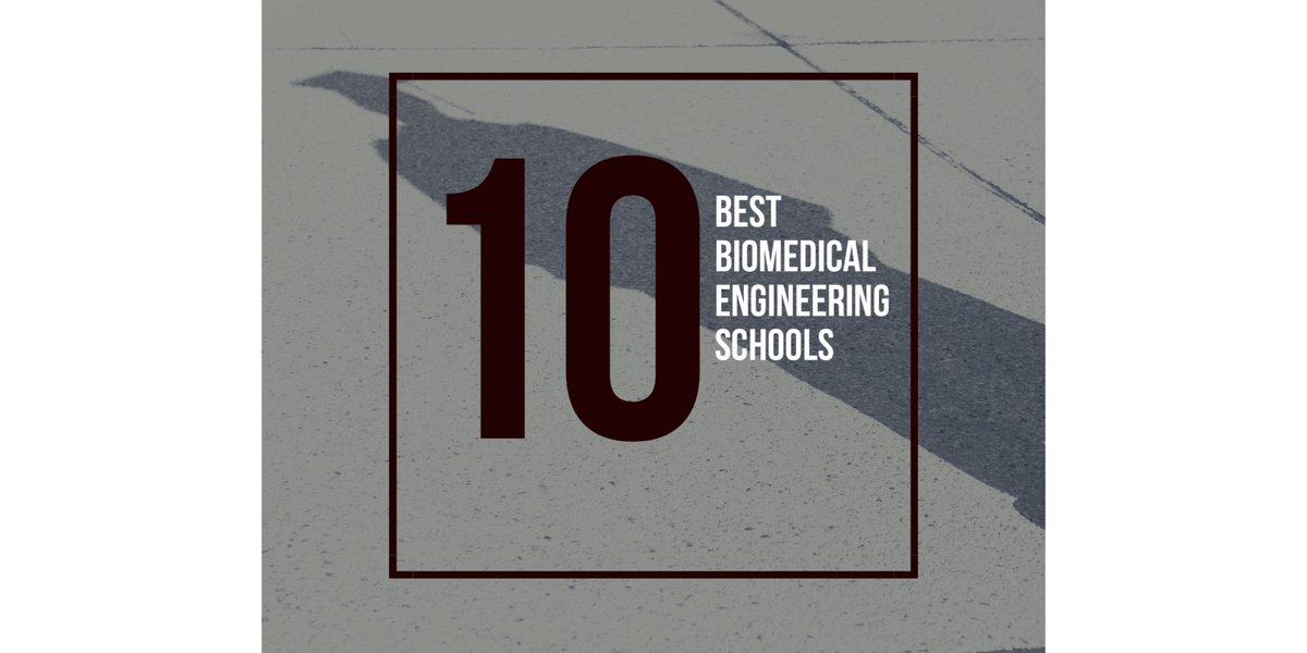 Where you go to school matters. Here are the top 10 schools for #biomedical #engineering.  http://www. qmed.com/mpmn/medtechpu lse/top-10-biomedical-engineering-schools-salary-2016 &nbsp; … <br>http://pic.twitter.com/E5QNHfNLi5