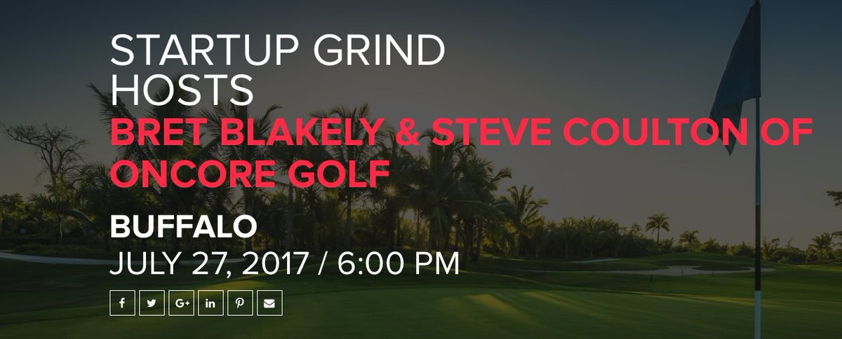If you're into the #startup scene, stop by @StartUpGrindBuf tomorrow (7/27) at @DigBuffalo, featuring @OnCoreGolf: https://t.co/jP4Pw0ozmV