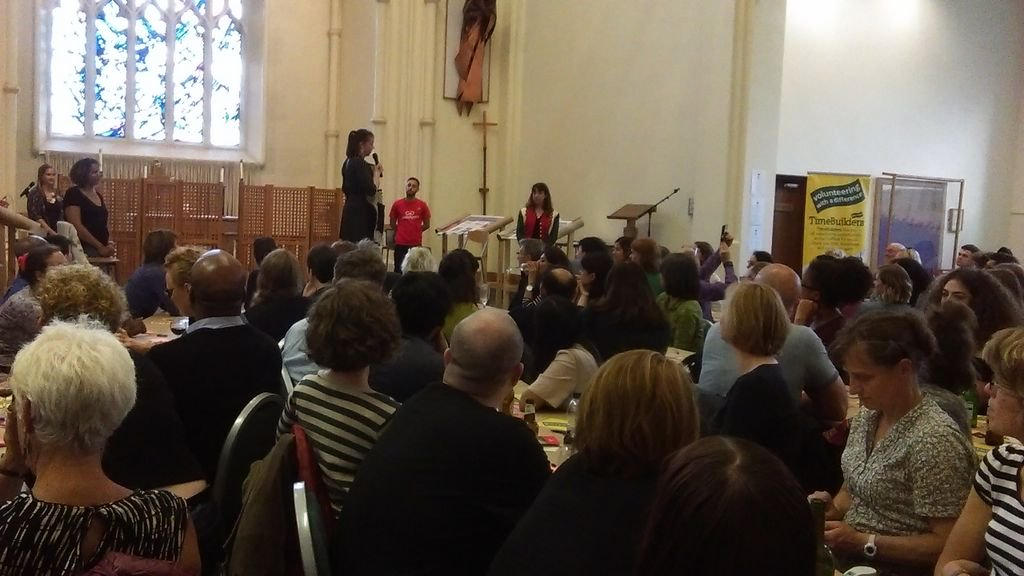 Full house @SheffSOUP this event 4 great #socialenterprise ideas being pitched for the pot worth over £800! #SocEntX<br>http://pic.twitter.com/dN9xl3xdVM