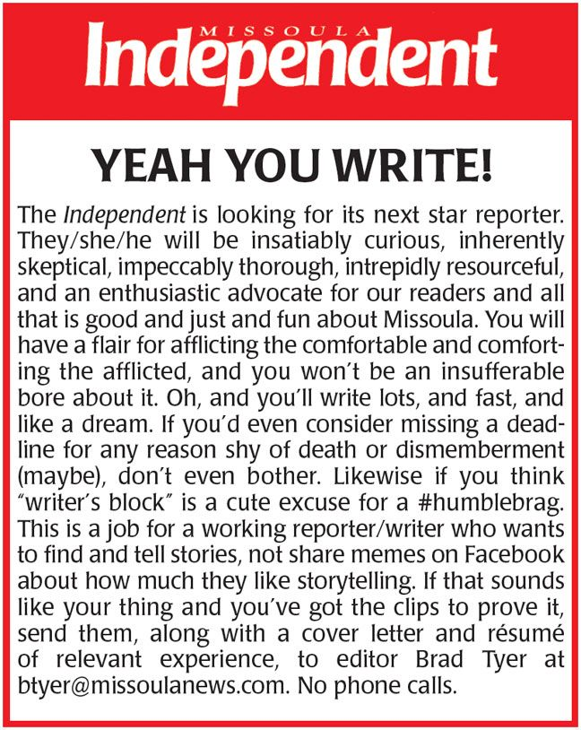 Know any underexploited #reporters looking for the last best job? Pass it around. <br>http://pic.twitter.com/4YMjucf1oT