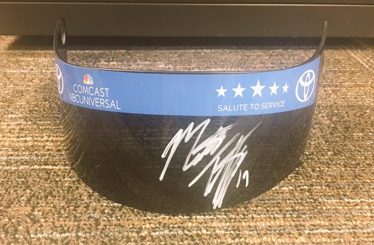 It's #WinItWednesday RT and follow @matt_tifft for your chance to win an autographed race used visor! 😳  #NASCAR