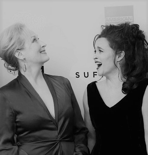 meryl streep and helena at a screening of suffragette at the bfi london film festival, 2015