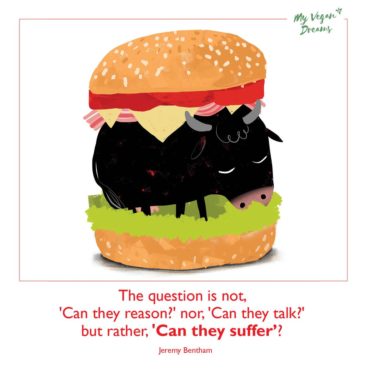 The question is not, &quot;Can they reason?&quot; nor, &quot;Can they talk?&quot; but rather, &quot;Can they suffer?&quot; #vegan #govegan<br>http://pic.twitter.com/ddpjqqlTre
