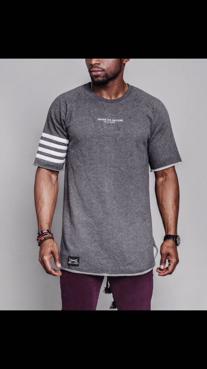 Charcoal curve hem tee with back drawstring. #fashion #streetwear #instafashion #twitterfashion #street #urban #menswear #mensfashion #style<br>http://pic.twitter.com/GYgE2sB7eL
