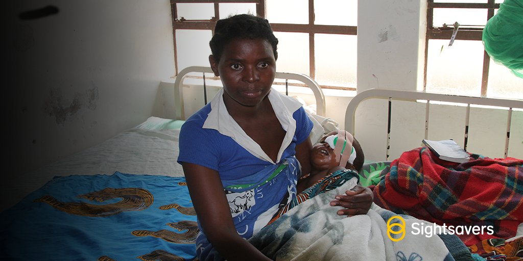 Stonard&#39;s just 18 months but was diagnosed with #cataract in both eyes. Here he&#39;s with mum Joyce after surgery in Malawi #MillionMiracles<br>http://pic.twitter.com/B6hXkFWX8x