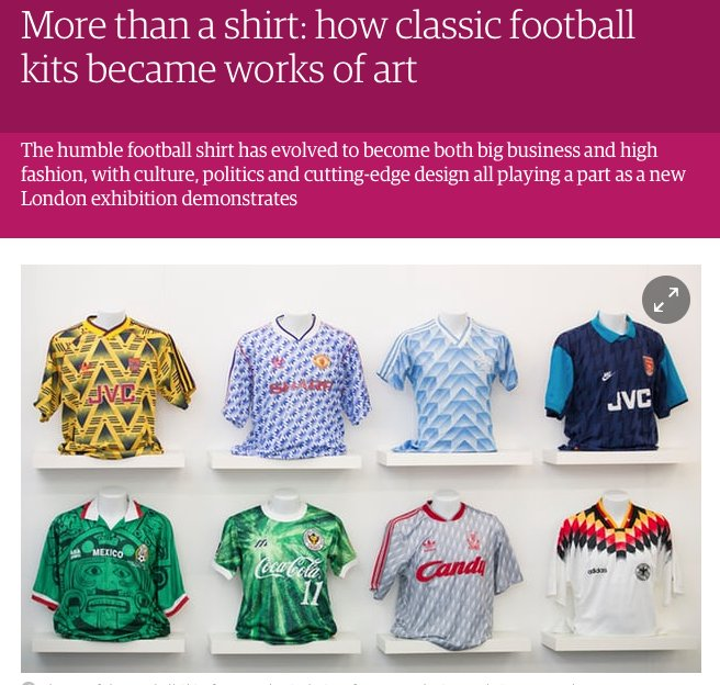 ac52c15ed More than a shirt: how classic football kits became works of art via  @guardian ...