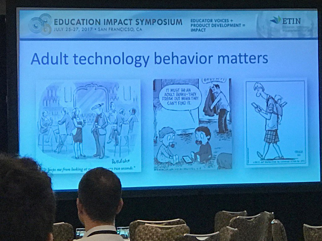 Technoference impacts parenting. Mentor more, monitor less, says Dr Donahue, Erickson Institute. @ODLearn #ETINSIIA https://t.co/OzugT25MH7