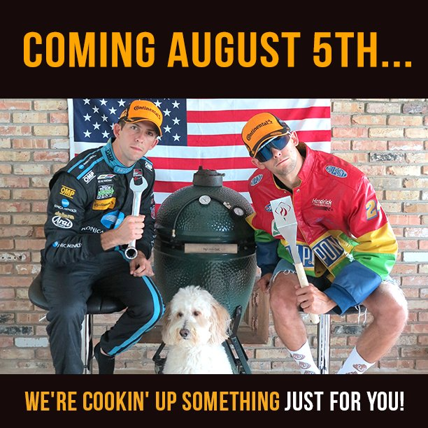 Coming Aug 5th @RickyTaylor_10 &amp; @jordan10taylor are cookin&#39; up something for you!   #announcement #ComingSoon #imsa #roadamerica<br>http://pic.twitter.com/ICQqPG1npr