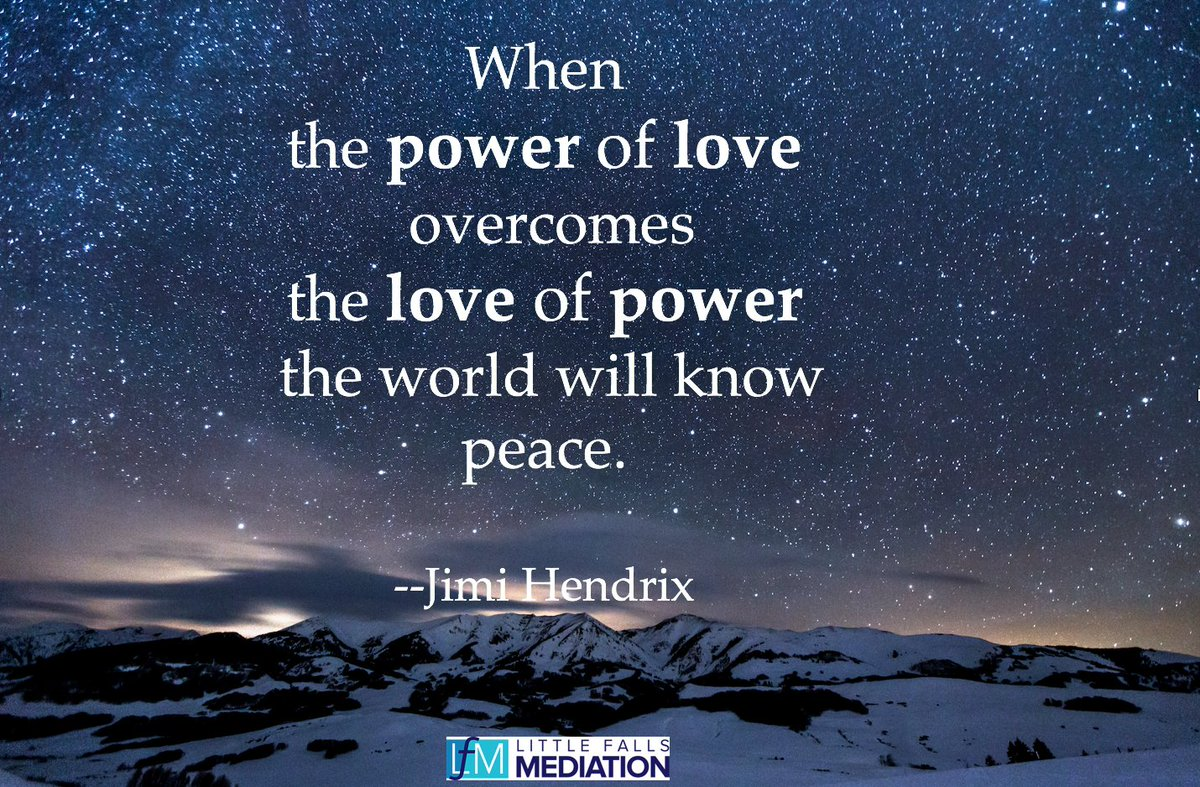 Ellice Halpern On Twitter When The Power Of Love Overcomes The Love Of Power The World Will Know Peace Jimi Hendrix Wednesdaywisdom
