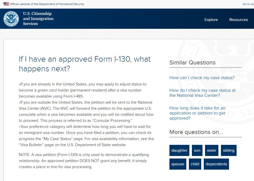 Arwen Fitzgerald On Twitter You Have An Approved Form I 130 Now