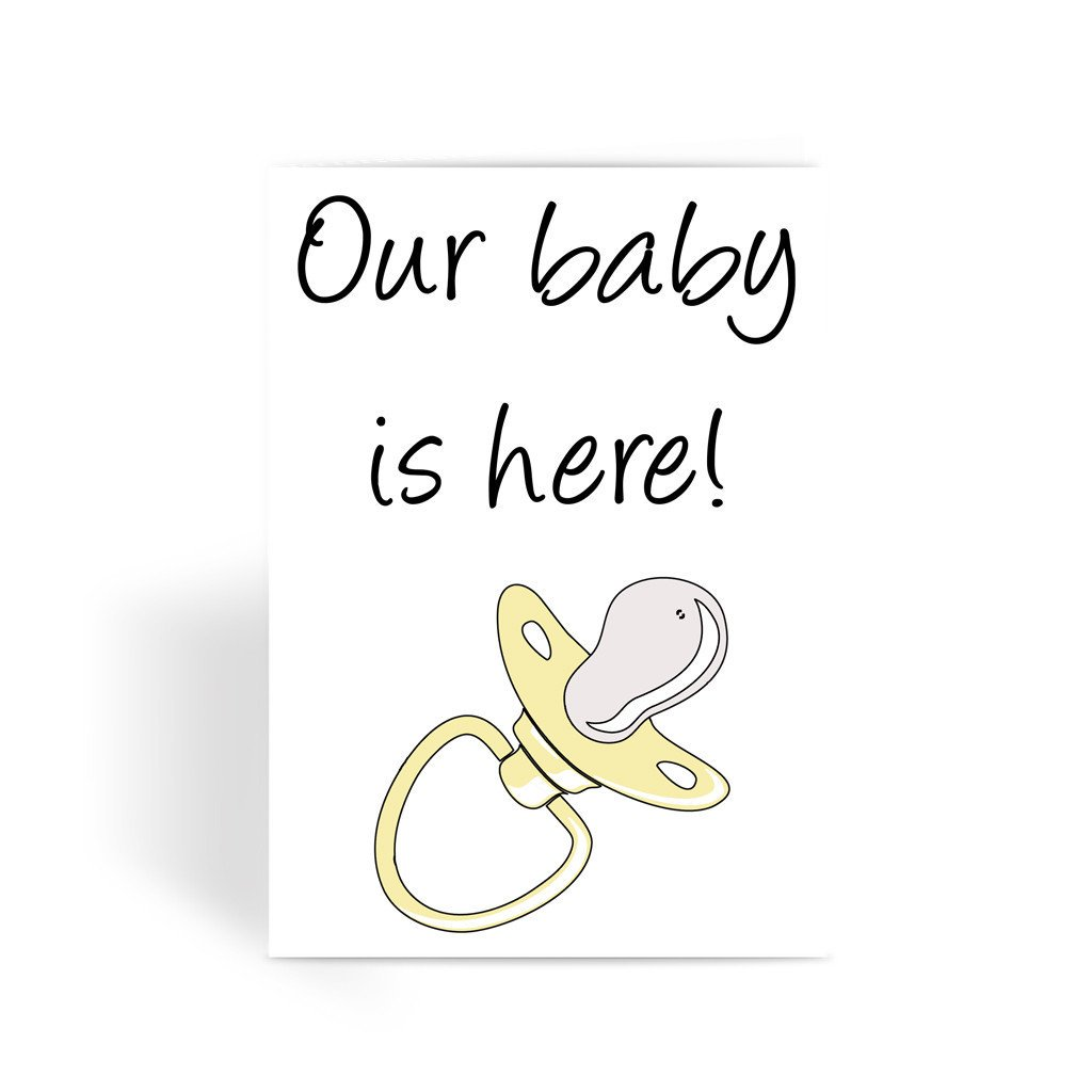 Now available - Pink #announcement #newbaby Our baby is here! card #FPSBS  https:// fotografixx.co.uk/collections/co ngratulations/products/our-baby-is-here-pregnancy-new-arrival-greeting-card?variant=41911837396 &nbsp; … <br>http://pic.twitter.com/Bfe3UJJV2U