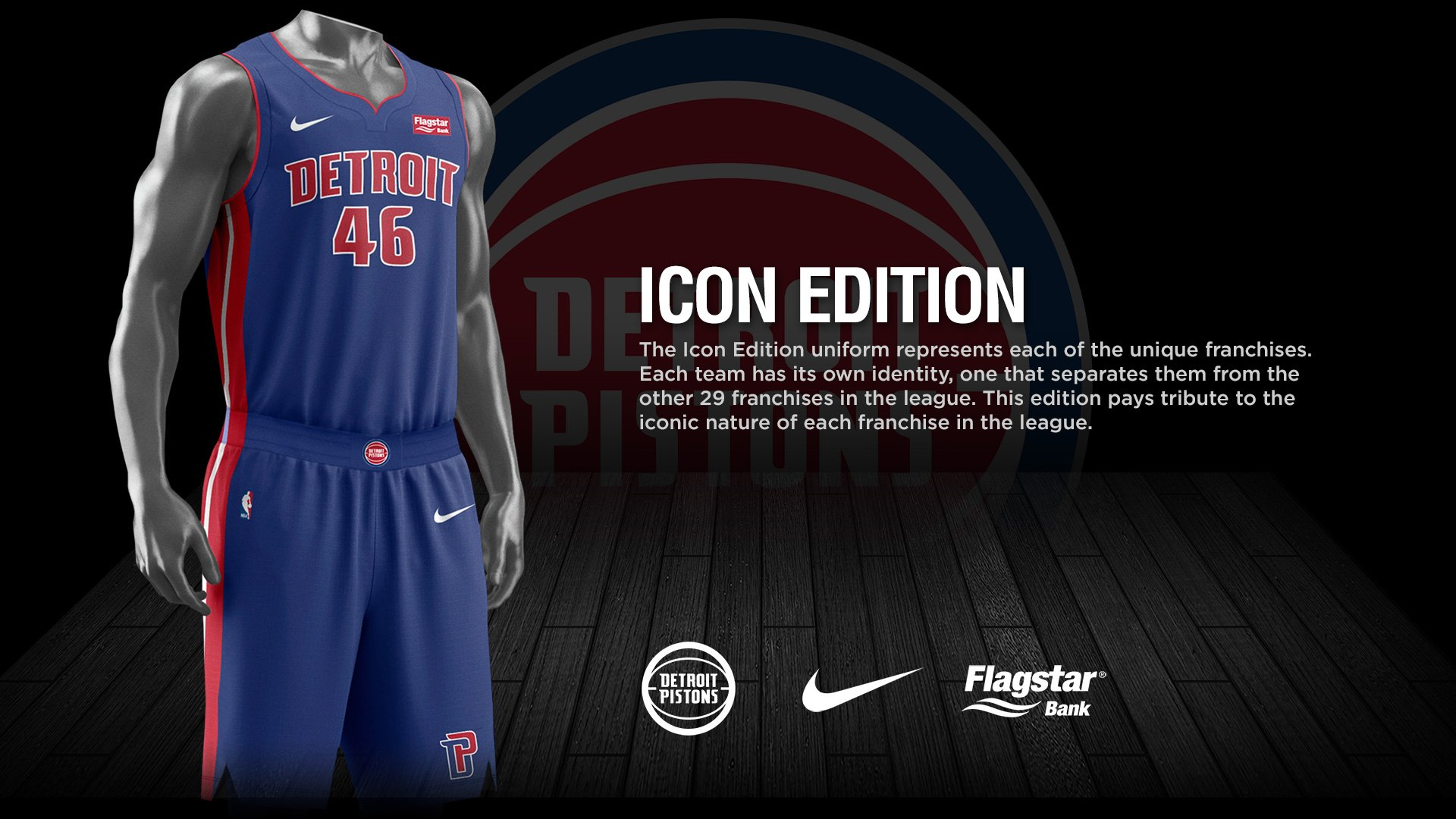 Also I like that Flagstars logo is red and matches compared to other  companies we couldve new nike nba jerseys rookies detroit pistons flagstar  bank ... a68c99694