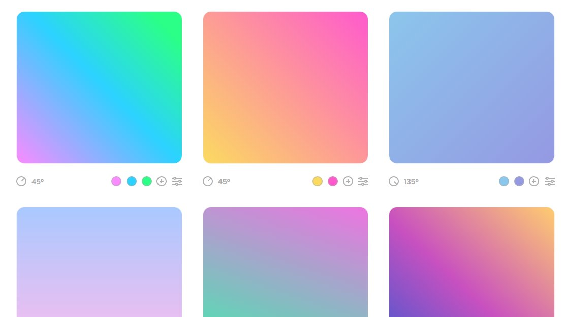 https://t.co/LQ9iJOHzdA generates web gradients with CSS and Sketch exports. https://t.co/XRyKImw3bT
