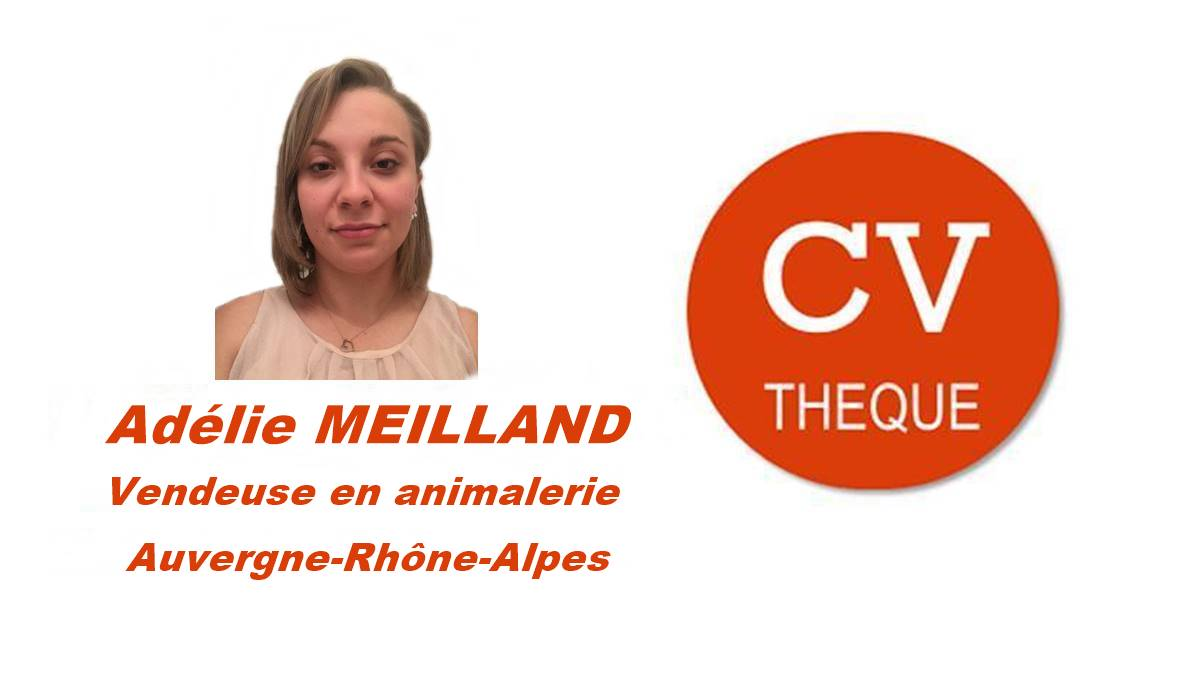 J+3 -  TOP – Auvergne-Rhône-Alpes – Adélie Meilland – Vendeuse en Animalerie – CVthèque https://t.co/hYqB0G80jV