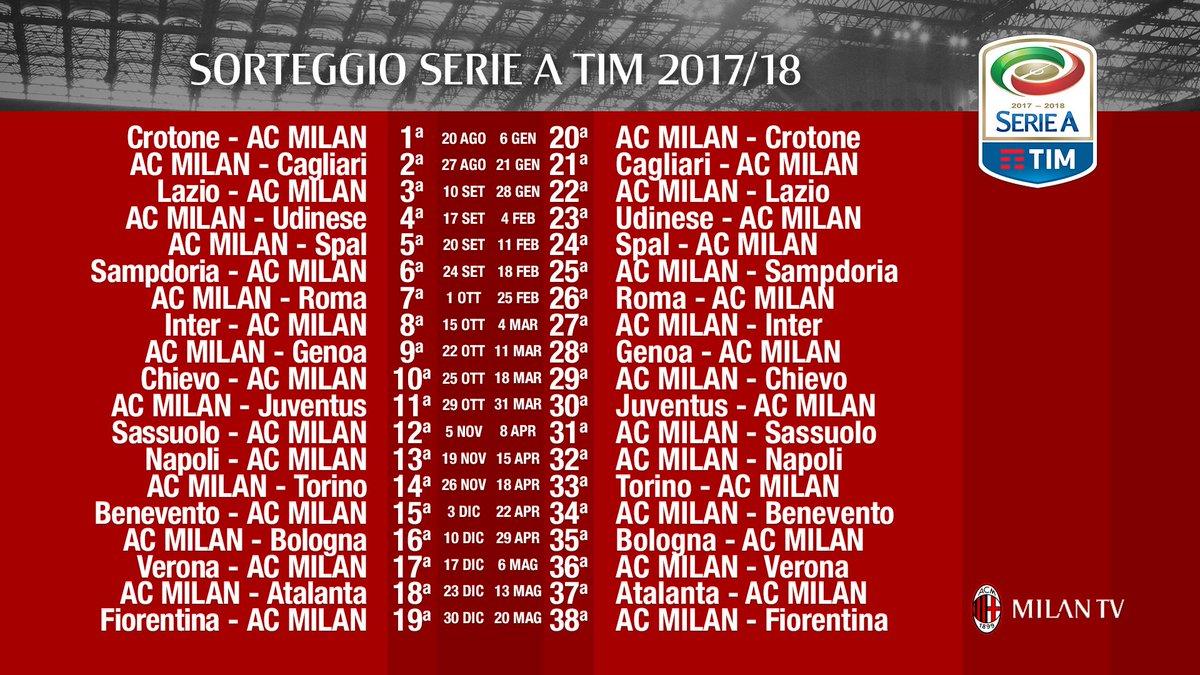 Estrazione Calendario Serie A.Sorteggio Calendario Serie A 2017 2018 Pagina 5