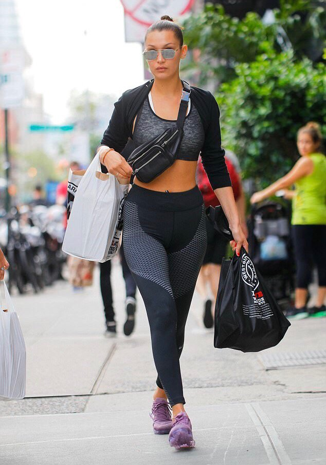 ce942572760 bellahadid wears the new  alexanderwang attica fanny pack in nyc.  wangsquad