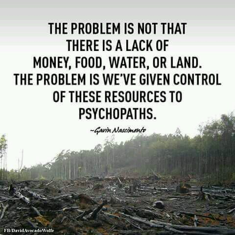 We&#39;ve given control of our planet to psychopaths...  #WednesdayWisdom #Sustainability #environment #pollution #deforestation #savetheplanet<br>http://pic.twitter.com/lw9oqJJv46