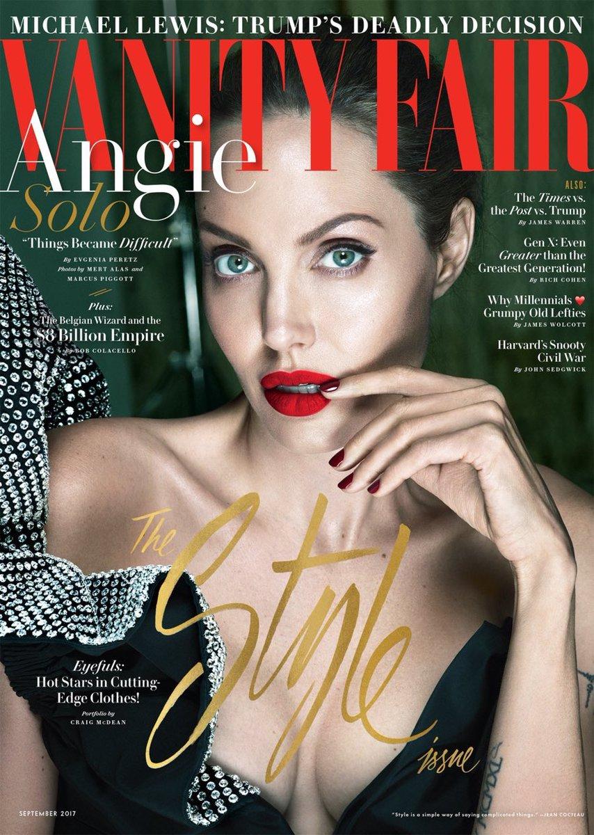 Angelina Jolie gracing the cover of Vanity Fair.
