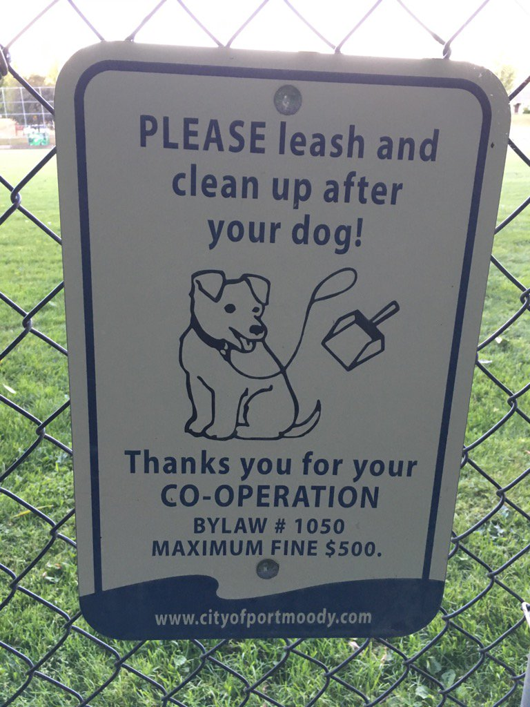 It may be @CityofPoMo bylaw #1050 but it is also common courtesy. Please pick up after your dog.  #community <br>http://pic.twitter.com/sjHyu5ojhI