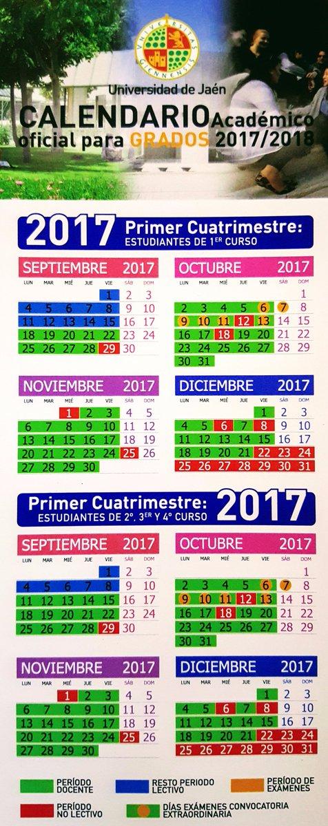 Calendario Ujaen.Juan Carlos Sanchez Rodriguez On Twitter Publicado El Calendario