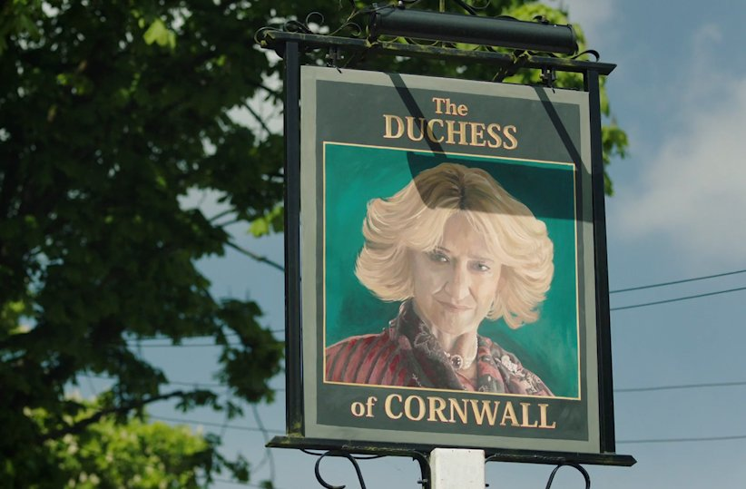 We saw five men inside the Duchess of Cornwall earlier today.  What?  #TheWindsors