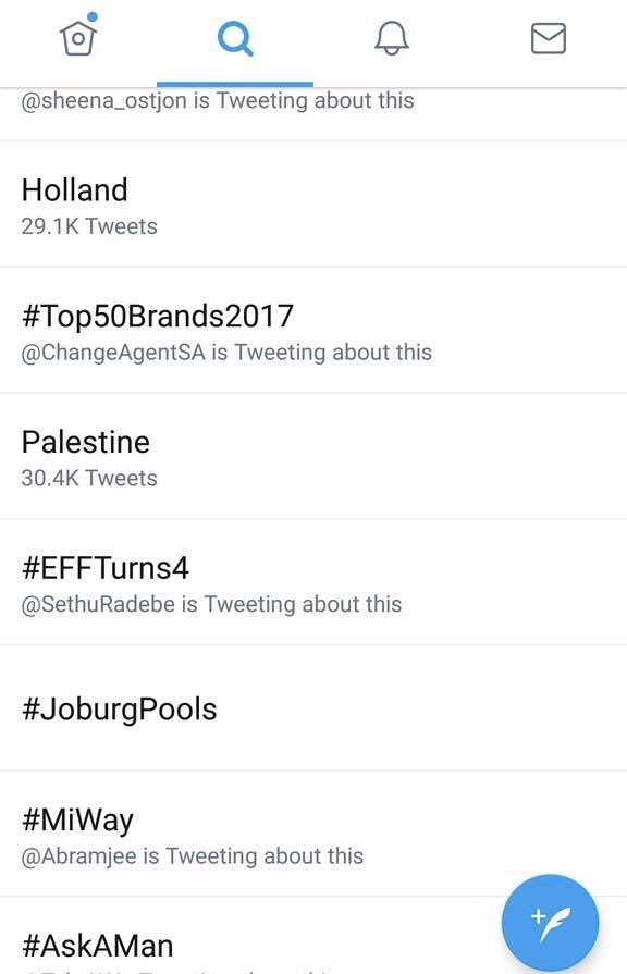 Hashtags #Palestinian &amp; #Palestine trending across South Africa! From to Joburg to Jerusalem in solidarity against Israeli Apartheid! <br>http://pic.twitter.com/gqR0wN1UjO