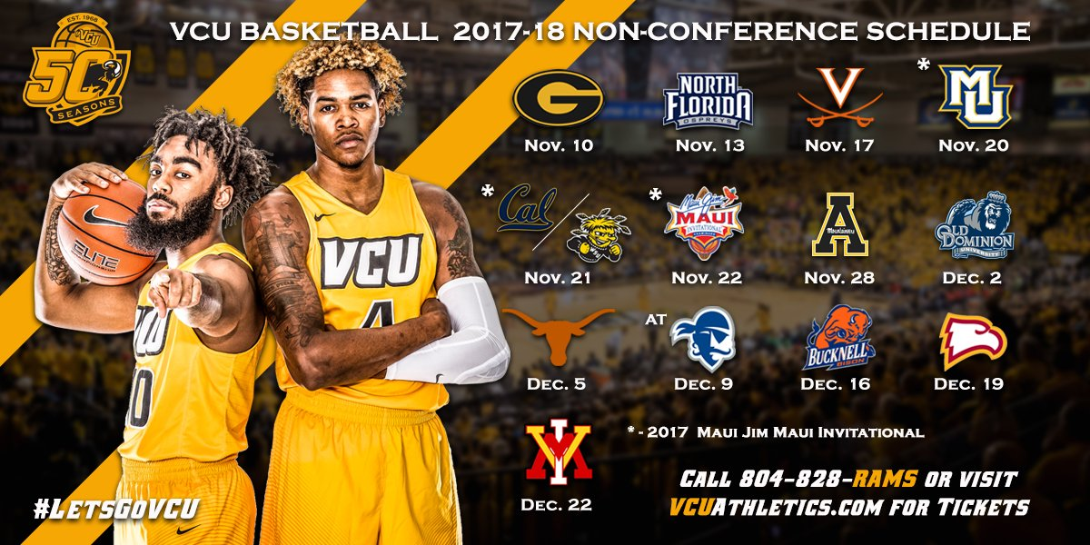 """VCU Basketball on Twitter: """"BREAKING: Here's our 2017-18 ..."""