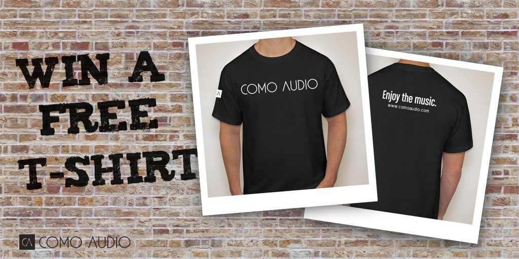 We&#39;re giving away 10 Como Audio t-shirts! Follow &amp; RT for a chance to WIN.  http:// bit.ly/ComoAudio  &nbsp;   #contest #giveaway #swag <br>http://pic.twitter.com/r0wJczEn7B