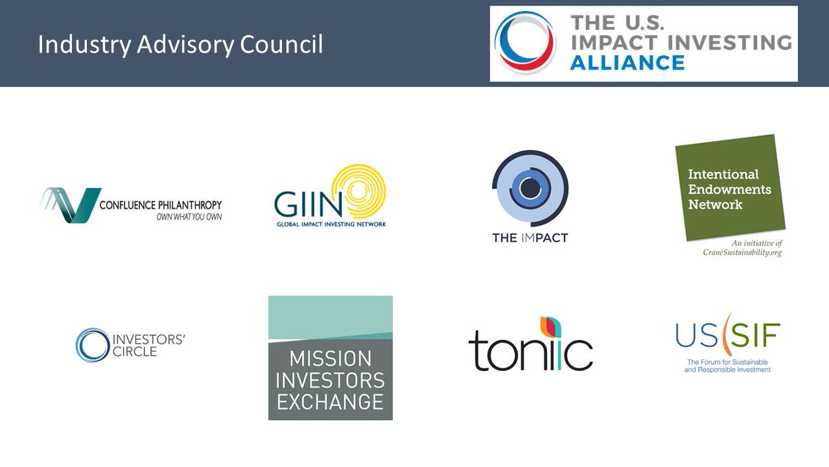 Excited to introduce the Alliance's Industry Advisory Council! Our inaugural members are #impinv #ESG leaders  http:// ow.ly/492h30dVfZu  &nbsp;  <br>http://pic.twitter.com/UMlxaG1Foo