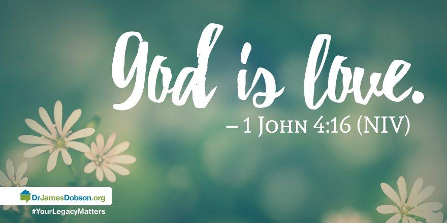 1 John 4:16 - God is love. #Bible <br>http://pic.twitter.com/nR1WRAqjW7