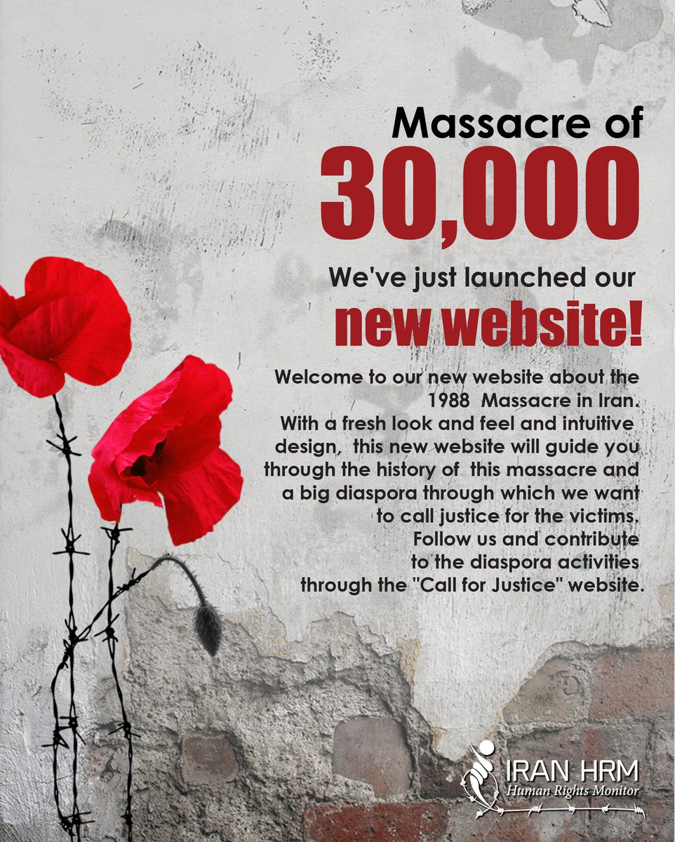 The Untold story of #1988massacre in #Iran and a #call for #justice- new #website launch  http:// justice.iran-hrm.com  &nbsp;  <br>http://pic.twitter.com/bEtwgyXi5C