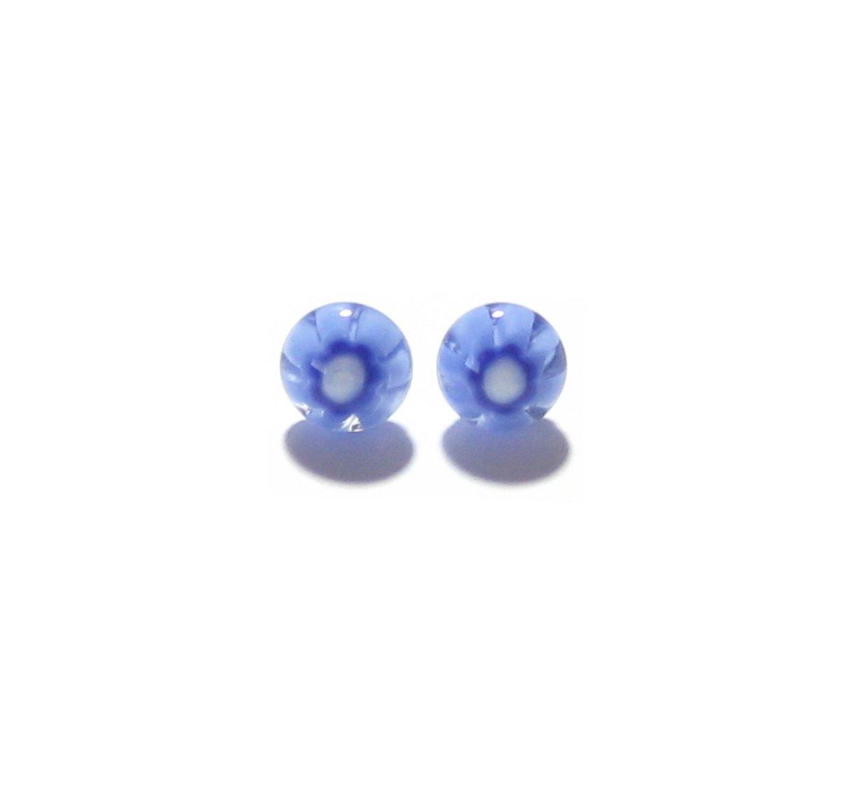 Murano Millefiori Blue Post Earring, Italian Jewelry, Murano Jewelry,…  http:// tuppu.net/71fd9fa7  &nbsp;   #craftshout #handmade <br>http://pic.twitter.com/61wGXB28Ju