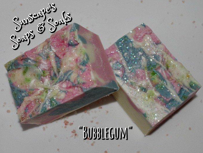 Coconut oil, shea butter &amp; #Bubblegum fragrance handmade soap at Sunscape&#39;s Soaps &amp; Soaks on #Etsy . #artisan #soaps  http:// tinyurl.com/gmuhggz  &nbsp;  <br>http://pic.twitter.com/mvSshZ89M5