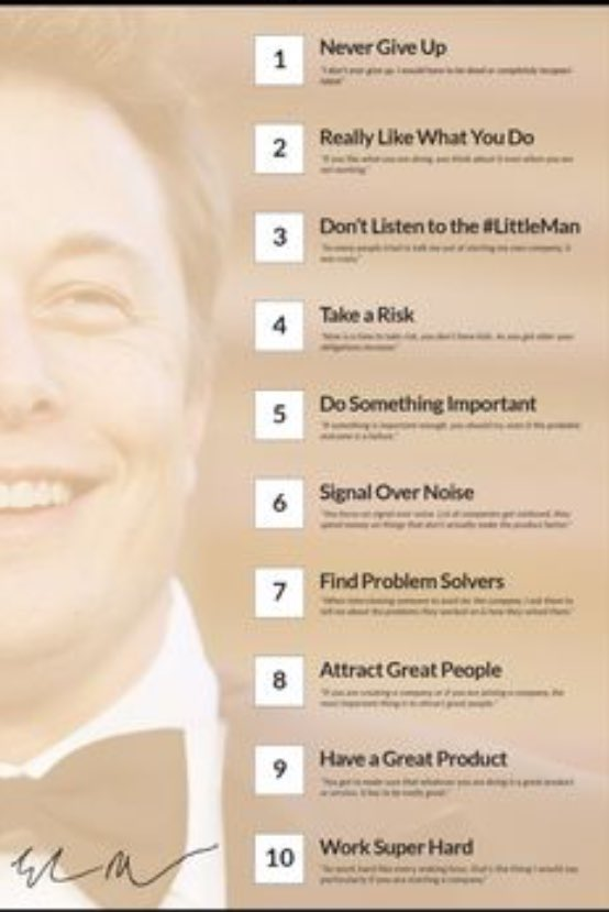 TOP 10 RULES FOR SUCCESS @elonmusk #business #marketing #motivation #Hustle #millionaire<br>http://pic.twitter.com/jc6NM6YHiZ