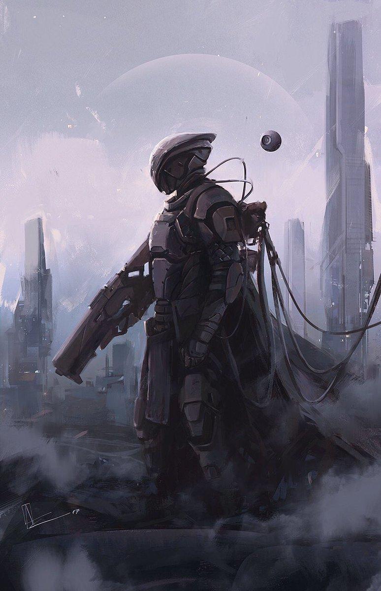Amir Zand On Twitter Cyberian Early 2017 Painting Scifi Art