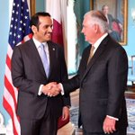 Secretary Tillerson hosted #Qatar's Foreign Minister @MBA_AlThani_ at the @StateDept today.