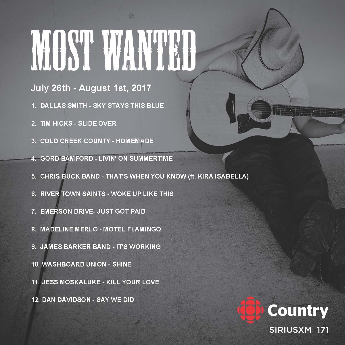 .@dallassmith takes over #MostWanted #1 with hot tunes from @washboardunion @jessmoskaluke @jamesbarkerband @ItsDanDavidson #Can  #Country<br>http://pic.twitter.com/Tq54V6FK9a