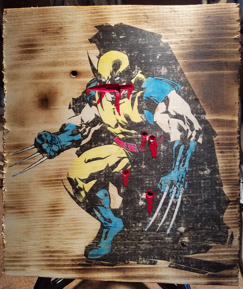 Wolverine Wednesday! And boy he had a rough one.  #Wolverine #xmen #woodworking #art #Logan #movie<br>http://pic.twitter.com/XwA2vuBedl