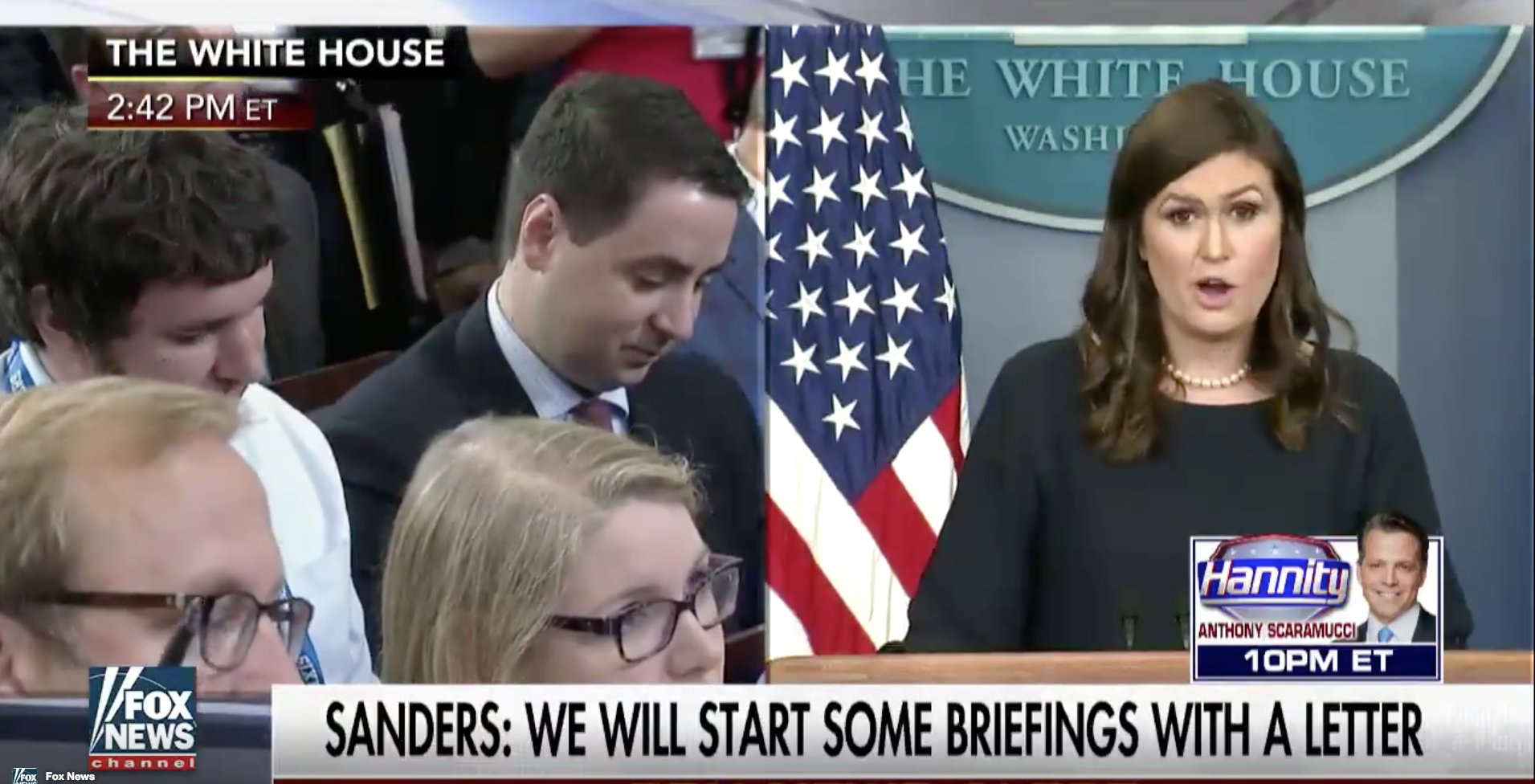 Um, White House press briefings will begin with letters of praise for Trump https://t.co/HwZDeU7SYW https://t.co/BpbtWbuEFm