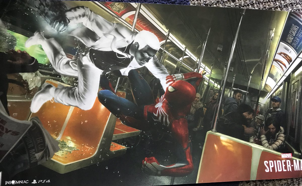 Here's the image side of the #SpiderManPS4 #SDCC poster. Panel attendees could pick these up with their ticket. https://t.co/eXkBrXS8p0