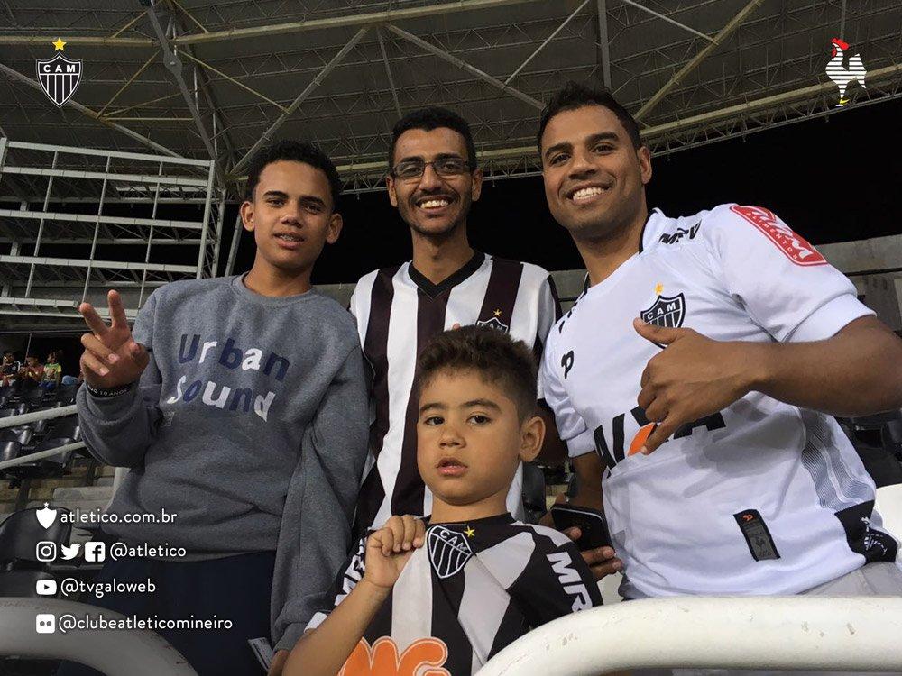 Torcida do #Galo marca presença no estádio Nilton Santos, no Rio de Janeiro! Vamos, #Galo! #BOTxCAM
