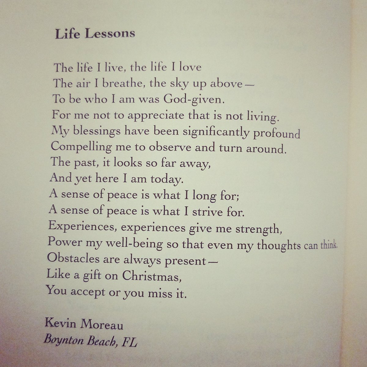 Here is a poem that I recently had published.  &quot;Life Lessons&quot;  #Poetry #Life #publishing #LIFE #lessons #love #peace #humanity #TEDtalks<br>http://pic.twitter.com/yVnaXrRO37